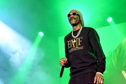 ATLANTA, GEORGIA - SEPTEMBER 23: Snoop Dogg performs onstage during the BMF world premiere screening...