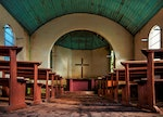Rio Grande do Sul, Brasil. Abandoned Lutheran chapel in the rural town of Forquetinha. The first Ger...
