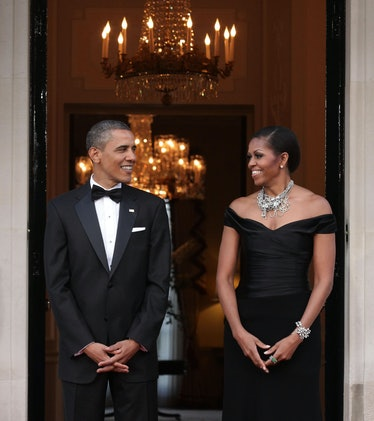 Michelle Obama celebrated her 29th anniversary with Barack Obama by sharing a throwback photo on Ins...