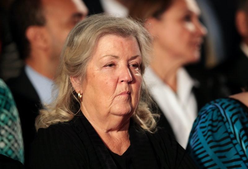 Juanita Broaddrick at a 2016 town hall debate at Washington University in St. Louis, Missouri.