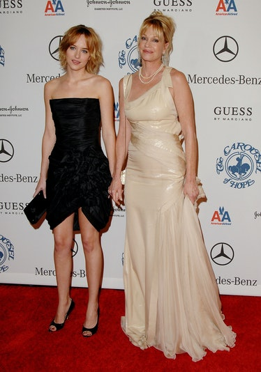 Actress Melanie Griffith (r) and daughter Dakota Johnson arrive at The 30th Annual Carousel of Hope ...