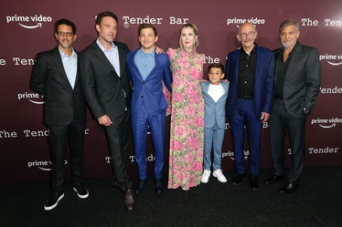 LOS ANGELES, CALIFORNIA - OCTOBER 03: (L-R) Grant Heslov, Ben Affleck, Tye Sheridan, Lily Rabe, Dani...