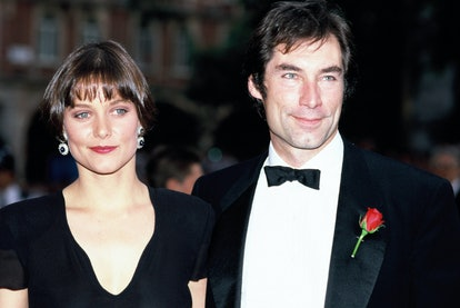 Actors Timothy Dalton and Carey Lowell attend the premiere of the James Bond film 'License to Kill' ...