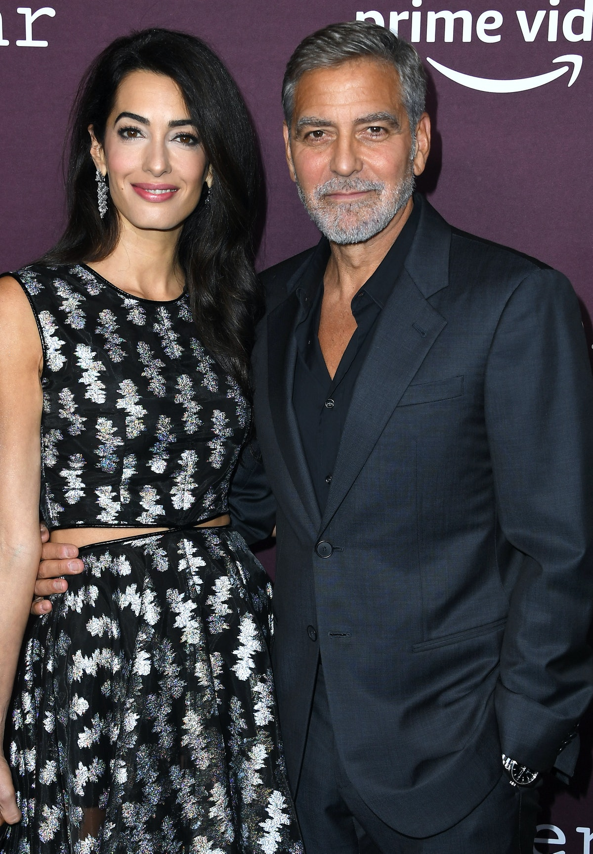 لوس آنجلس ، کالیفرنیا - 03 اکتبر: جورج کلونی ، آمال کلونی وارد مجموعه تئاتر DGA در ...