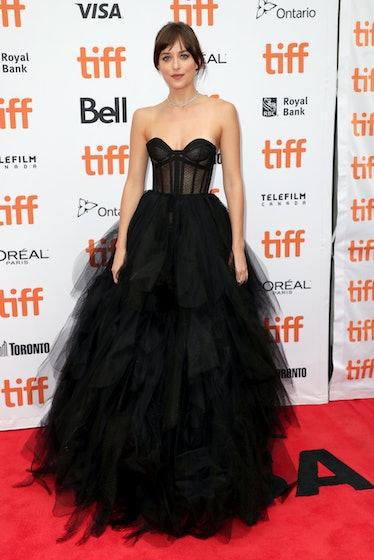 "TORONTO, ONTARIO - SEPTEMBER 06: Dakota Johnson attends ""The Friend"" premiere during the 2019 Toront..."