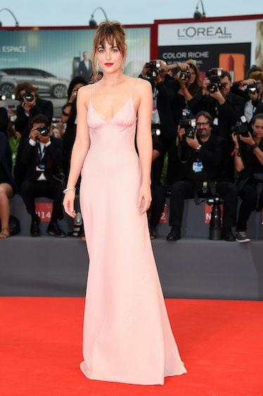 VENICE, ITALY - SEPTEMBER 04:  Dakota Johnson attends a premiere for 'Black Mass' during the 72nd Ve...