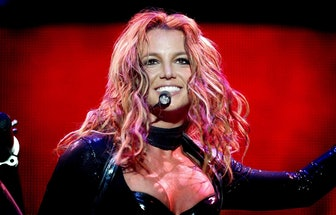 US singer Britney Spears performs in Rotterdam, 07 May 2004 during her sole concert in the Netherlan...