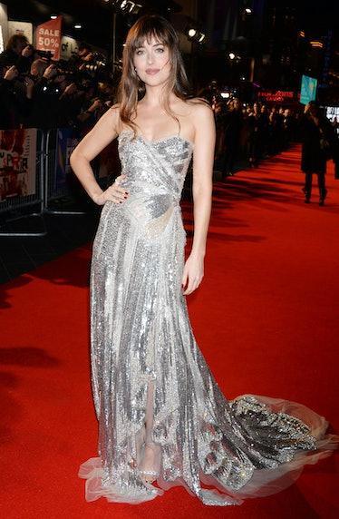LONDON, ENGLAND - OCTOBER 16:   Dakota Johnson attends the UK Premiere & Headline Gala screening of ...
