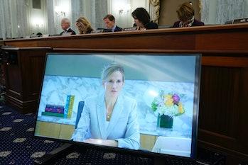 WASHINGTON, DC - SEPTEMBER 30: Antigone Davis, Facebook's global head of safety, testifies virtually...