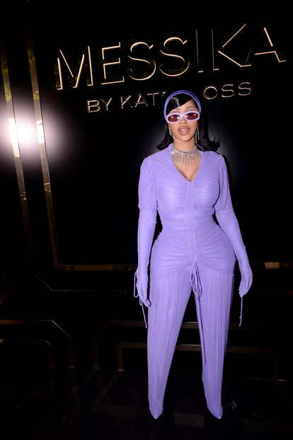 PARIS, FRANCE - OCTOBER 03: Cardi B attends the Kate Moss High Jewelry Fashion Show as part of Paris...