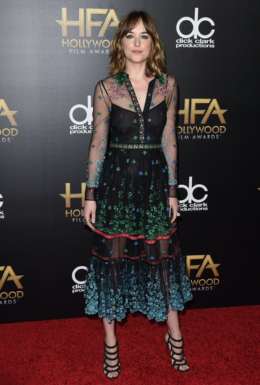 BEVERLY HILLS, CA - NOVEMBER 01:  Actress Dakota Johnson arrives at the 19th Annual Hollywood Film A...