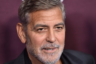 """US actor George Clooney arrives for """"The Tender Bar"""" premiere at the Directors Guild of America Thea..."""