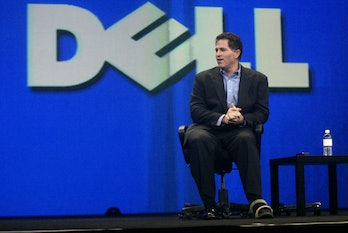 dell017_suzuki.JPG Michael Dell, Chairman and CEO of Dell, speaks as the sponsor keynote at Oracle W...