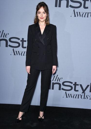 LOS ANGELES, CA - OCTOBER 26:  Dakota Johnson arrives at the InStyle Awards at Getty Center on Octob...