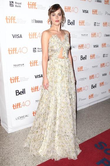 "TORONTO, ON - SEPTEMBER 14:  Actress Dakota Johnson attends the ""Black Mass"" premiere during the 201..."