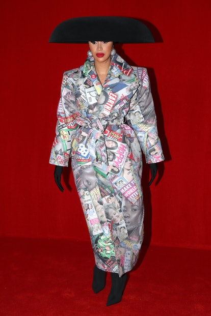 Cardi B poses on the runway during the Balenciaga Womenswear Spring/Summer 2022 show as part of Par...