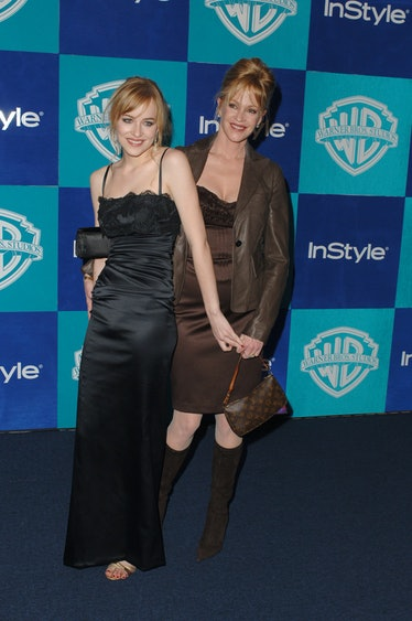 Dakota Johnson and Melanie Griffith at the Beverly Hilton in Beverly Hills, California (Photo by Ste...
