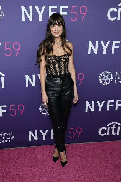 "NEW YORK, NEW YORK - SEPTEMBER 29: Dakota Johnson attends the premiere of ""The Lost Daughter"" during..."