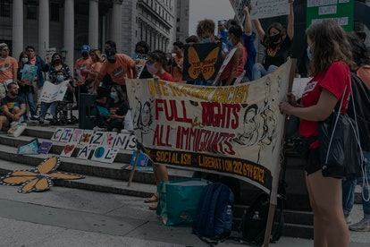 NEW YORK, UNITED STATES - 2021/08/17: A few dozen Deferred Action for Childhood Arrivals (DACA) prot...