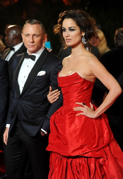 Daniel Craig and Berenice Marlohe arriving for the Royal World premiere of Skyfall at the Royal Albe...