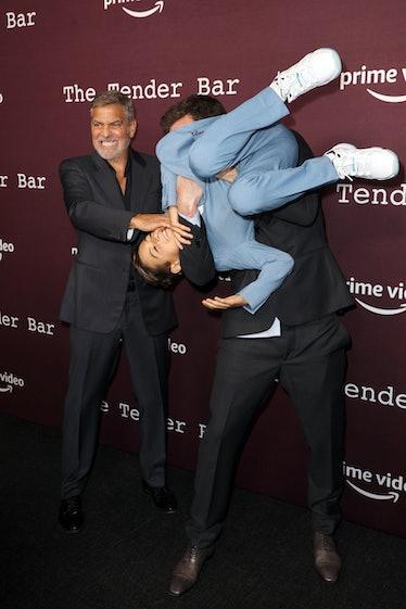 LOS ANGELES, CALIFORNIA - OCTOBER 03: (L-R) George Clooney, Ben Affleck, and Daniel Ranieri attend t...