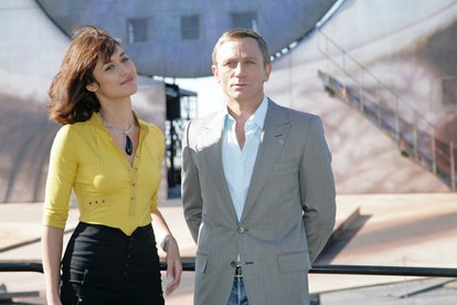 Olga Korylenko (L) and Daniel Craig (R) are seen on the sea stage in Bregenz on 06 May, 2008 in Breg...