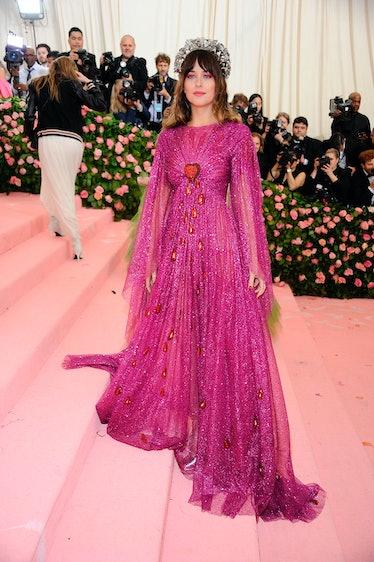 NEW YORK, NY - MAY 06:  Dakota Johnson attends The 2019 Met Gala Celebrating Camp: Notes On Fashion ...