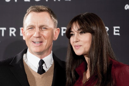 Daniel Craig and Monica Bellucci attend the phorocall of movie 007 Spectre in Rome. (Photo by Alessa...