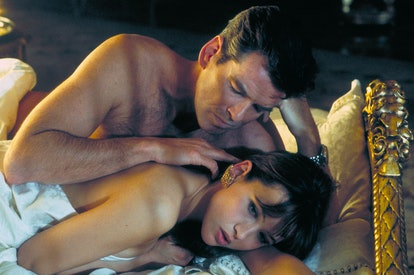 (Original Caption) Pierce Brosnan and Sophie Marceau on the set of the film by Michael Apted. (Photo...