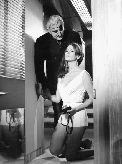 'Thunderball' directed by Terence Young with actors Claudine Auger and Adolfo Celi, 1965 James Bond ...