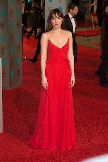 LONDON, ENGLAND - FEBRUARY 14:  Dakota Johnson attends the EE British Academy Film Awards at The Roy...