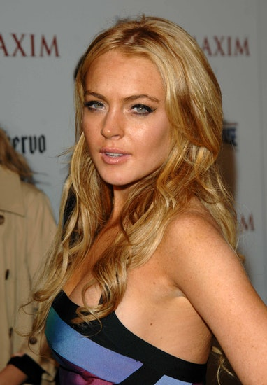 Lindsay Lohan arrives to Maxim's Hot 100 Party held at the Gansevoort Hotel, New York City  BRIAN ZA...