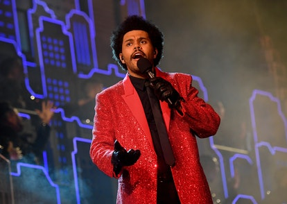 The Weeknd from the Super Bowl Halftime Show is an easy DIY Halloween costume