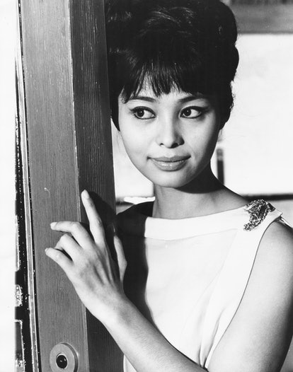 Japanese actress Akiko Wakabayashi, in a scene from the James Bond film 'You Only Live Twice', circa...