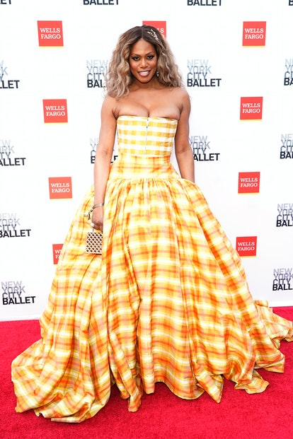 NEW YORK, NEW YORK - SEPTEMBER 30: Laverne Cox attends New York City Ballet's 2021 Fall Fashion Gala...
