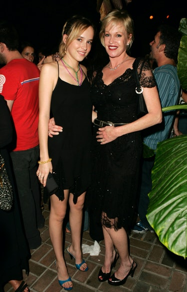 Melanie Griffith and daughter Dakota Johnson during Teen Vogue Young Hollywood Party - Inside at Cha...