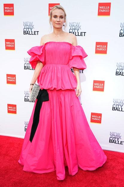 NEW YORK, NEW YORK - SEPTEMBER 30: Diane Kruger attends New York City Ballet's 2021 Fall Fashion Gal...