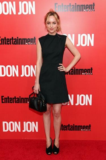 "NEW YORK, NY - SEPTEMBER 12: Dakota Johnson attends the ""Don Jon"" New York Premiere at SVA Theater o..."