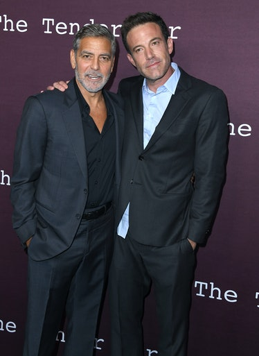 LOS ANGELES, CALIFORNIA - OCTOBER 03: George Clooney and Ben Affleck arrives at DGA Theater Complex ...