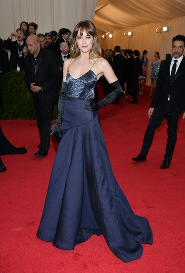 "NEW YORK, NY - MAY 05:  Dakota Johnson attends the ""Charles James: Beyond Fashion"" Costume Institute..."