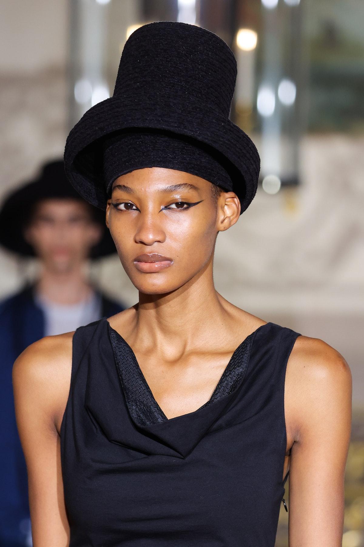 At Koché Spring Summer 2022 at Paris Fashion Week in 2021, makeup artist Cécile Paravina crafted raz...