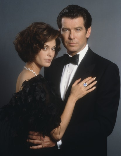 Irish actor Pierce Brosnan stars as 007 opposite actress Teri Hatcher as Paris Carver in the James B...