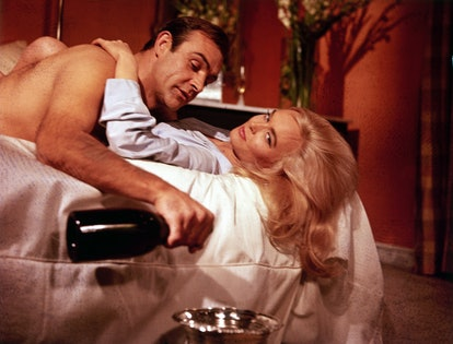 """Sean Connery, Shirley Eaton in """"Goldfinger"""" 1964   (Photo by RDB/ullstein bild via Getty Images)"""
