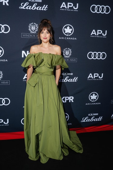TORONTO, ONTARIO - SEPTEMBER 07: Dakota Johnson attends Audi Canada Co-hosts The Artist For Peace An...
