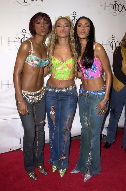 """Destiny's Child in crop tops, jeans, and sparkling belts at """"MTV Icon: Janet Jackson"""" at Sony Studio..."""