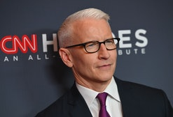 Anderson Cooper's son loves his feet.
