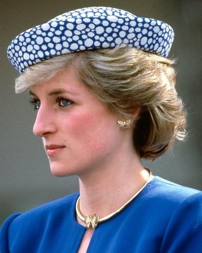 Princess Diana wearing her butterfly earrings in British Columbia, Canada in May 1986.