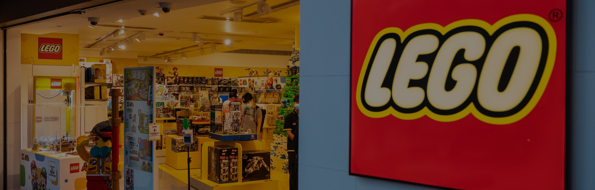 HONG KONG, CHINA - 2021/08/23: Danish toy brand Lego official store seen in Hong Kong. (Photo by Bud...