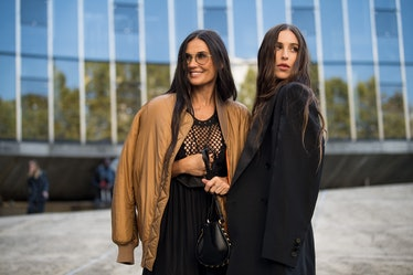 Demi Moore and Scout Willis attend the Stella Mc Cartney Womenswear Spring/Summer 2022 show
