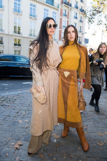 Demi Moore and Scout Willis attend the Chloe Womenswear Spring/Summer 2022 show